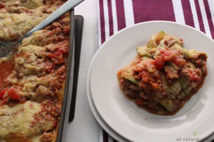 Serving up an easy paleo zucchini lasagna