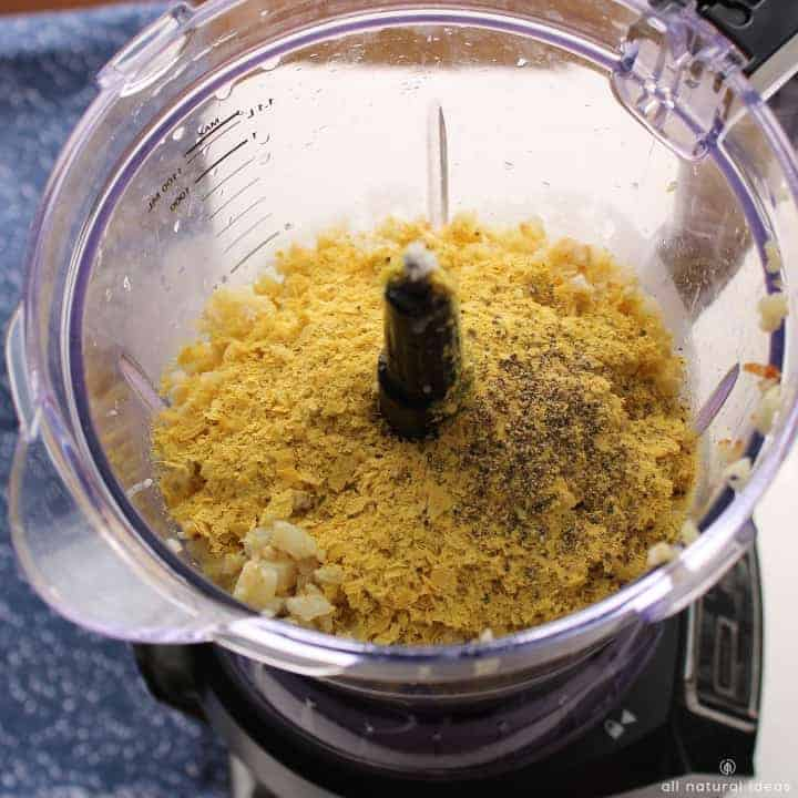 Adding nutritional yeast for the vegan cheese sauce