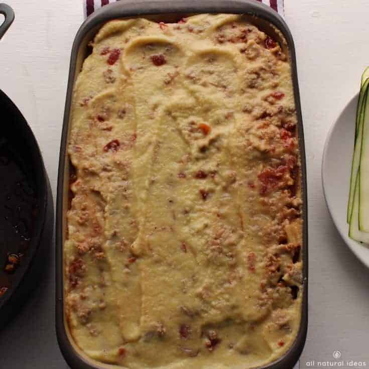 A paleo nutritional yeast vegan cheese sauce for lasagna