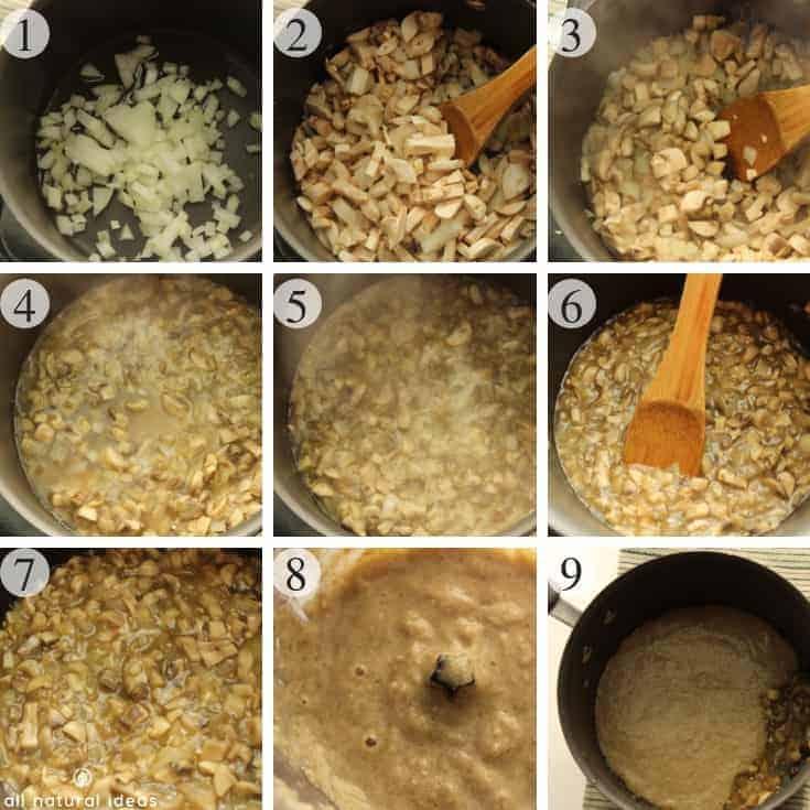 How to make a paleo dairy free cream of mushroom soup