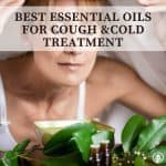 Steam inhalation of essential oils for cough and colds.