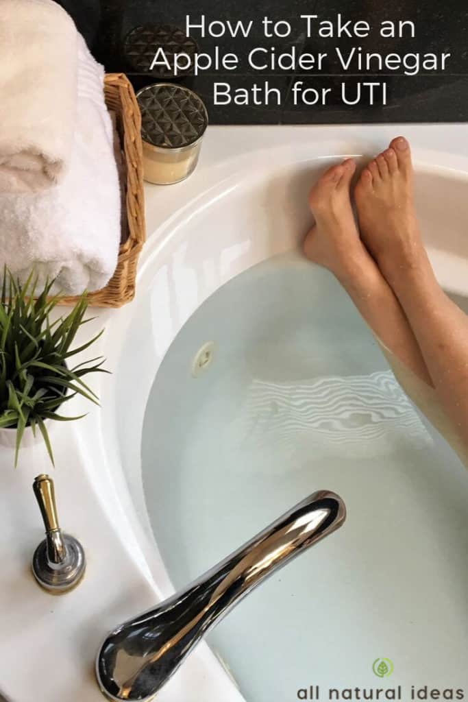 taking an apple cider vinegar bath for a UTI