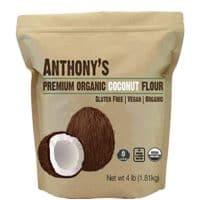 Anthony's Organic Coconut Flour (4lb), Batch Tested Gluten-Free, Non-GMO & Vegan