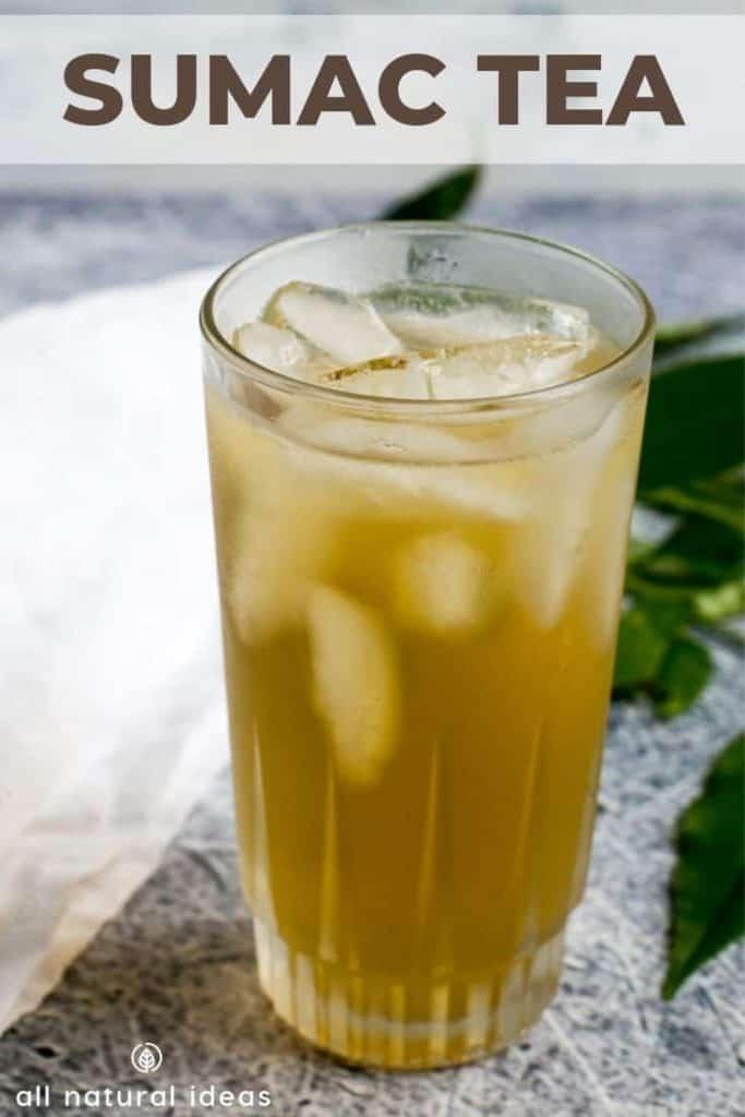 glass of sumac tea for health benefits