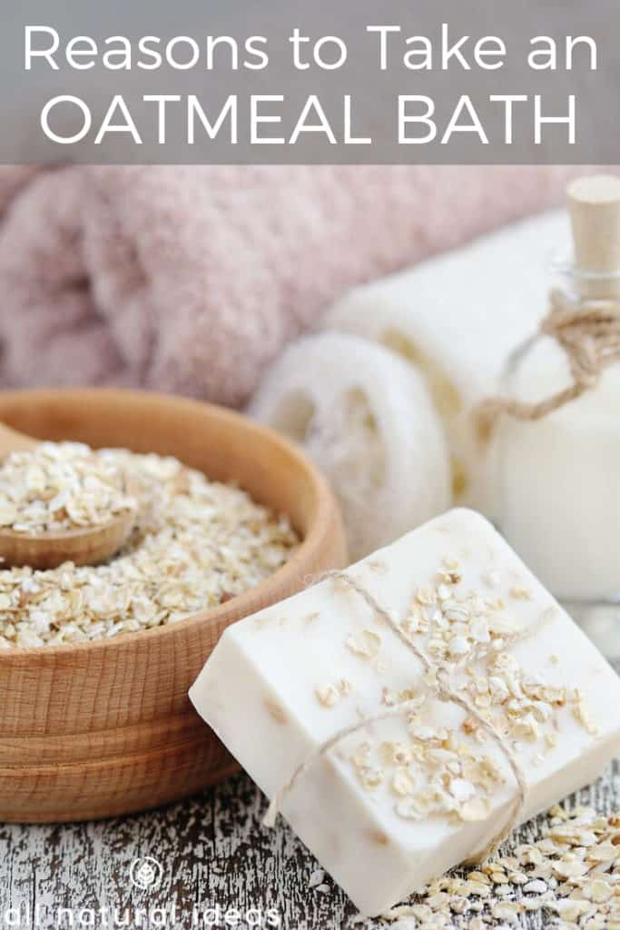 setup to take an oatmeal bath for skin benefits and more