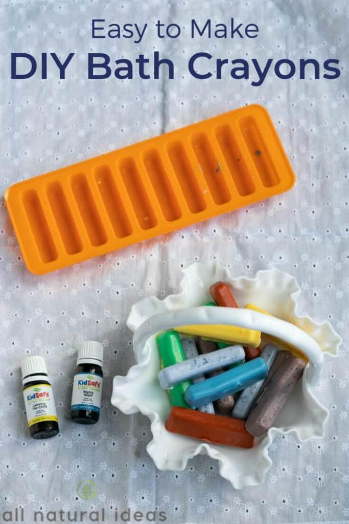 Easy to make DIY bath crayons